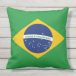 Flag of Brazil Bandeira do Brasil Outdoor Pillow