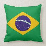 Flag of Brazil Bandeira do Brasil Throw Pillow