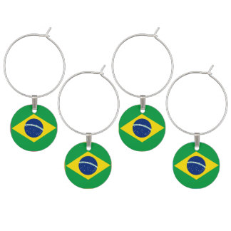 Flag of Brazil, Brazilian Wine Glass Charm