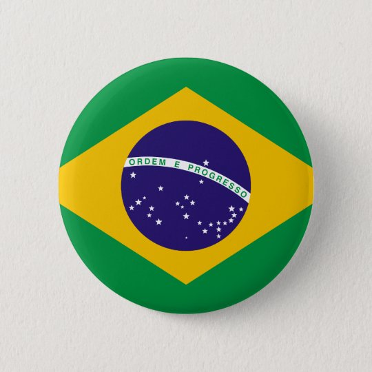 Flag of Brazil Button