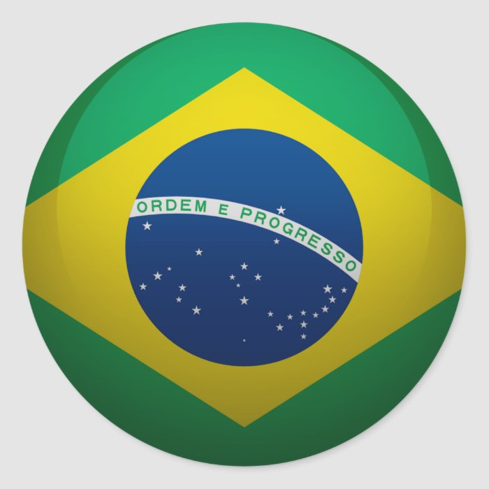 Flag of Brazil Classic Round Sticker