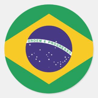 Flag of Brazil Classic Round Sticker