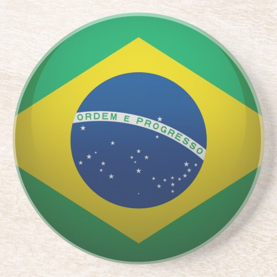 Flag of Brazil Drink Coaster