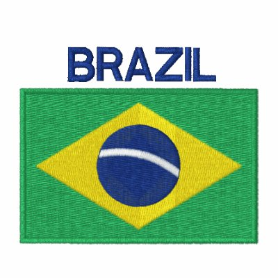 Flag of Brazil Embroidered Polo Shirt