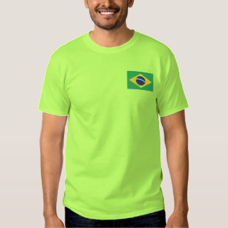 Flag of Brazil Embroidered T-Shirt