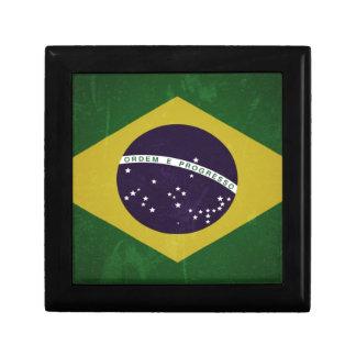 Flag of Brazil (grunge) Keepsake Box