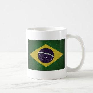 Flag of Brazil (grunge) Classic White Coffee Mug