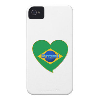 Flag of BRAZIL in heart of countries of the world iPhone 4 Covers