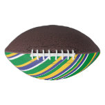 [ Thumbnail: Flag of Brazil Inspired Colored Stripes Pattern Football ]