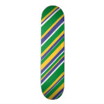 [ Thumbnail: Flag of Brazil Inspired Colored Stripes Pattern ]