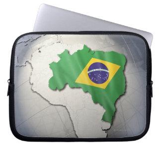 Flag of Brazil Laptop Sleeve