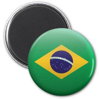 Flag of Brazil 2 Inch Round Magnet