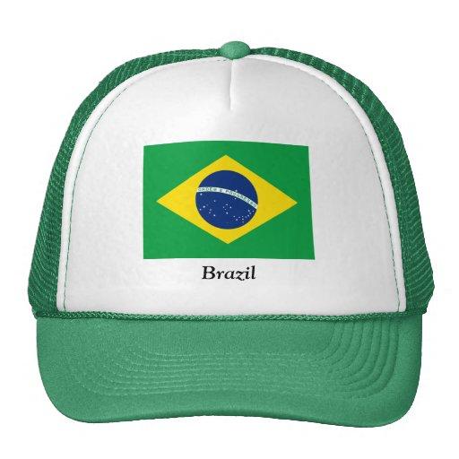 Flag of Brazil Mesh Hat