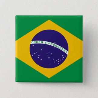 Flag of Brazil Pinback Button