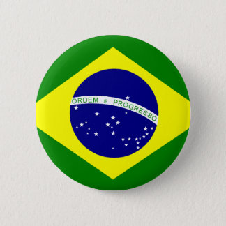 Flag of Brazil Pinback Button