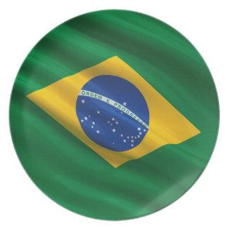 Flag of Brazil Plate