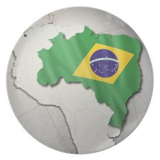 Flag of Brazil Party Plates