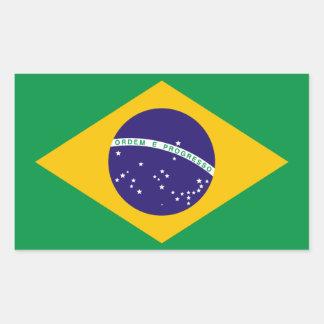 Flag of Brazil Rectangle Sticker