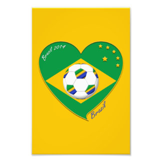Flag of BRAZIL SOCCER of champions of the world Photograph