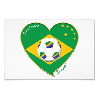 Flag of BRAZIL SOCCER of the world national team Photographic Print