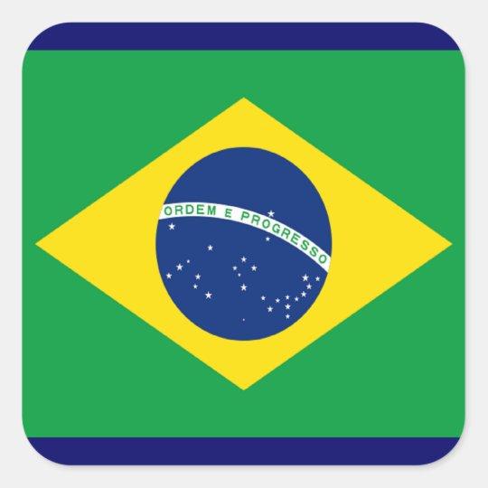 Flag of Brazil Square Sticker