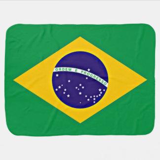 Flag of Brazil Swaddle Blanket