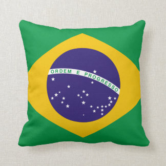 Flag of Brazil Throw Pillow
