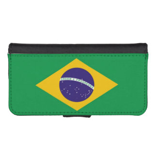 Flag of Brazil Wallet Phone Case For iPhone SE/5/5s