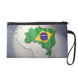 Flag of Brazil Wristlet Purse