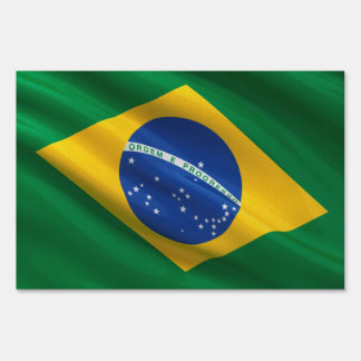 Flag of Brazil Yard Sign