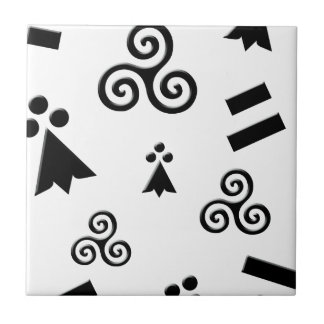 flag of Brittany Ceramic Tile
