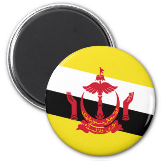 Flag of Brunei 2 Inch Round Magnet