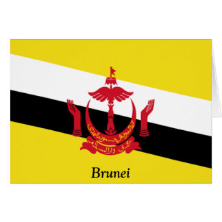 Flag of Brunei Greeting Card