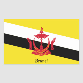 Flag of Brunei Rectangle Stickers