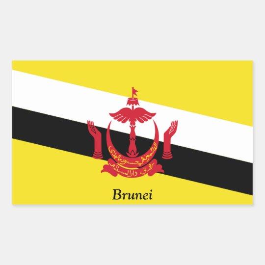 Flag of Brunei Rectangular Sticker