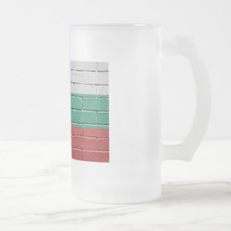 Flag of Bulgaria Frosted Glass Beer Mug