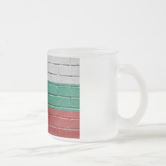 Flag of Bulgaria Frosted Glass Coffee Mug