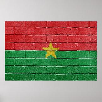 Flag of Burkina Faso Poster