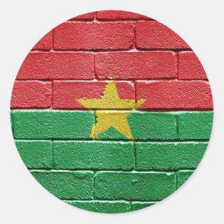 Flag of Burkina Faso Round Stickers