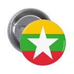 Flag of Burma 2 Inch Round Button