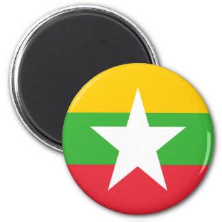 Flag of Burma 2 Inch Round Magnet