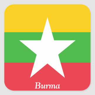Flag of Burma Square Sticker