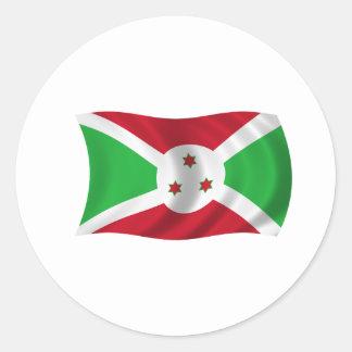 Flag of Burundi Classic Round Sticker