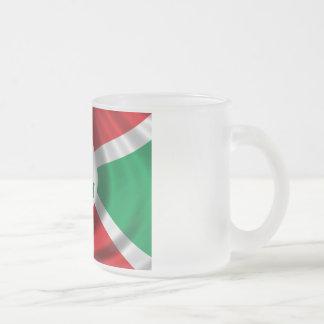 Flag of Burundi Frosted Glass Coffee Mug