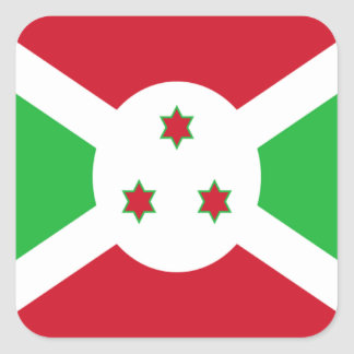Flag of Burundi Square Sticker