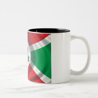 Flag of Burundi Two-Tone Coffee Mug