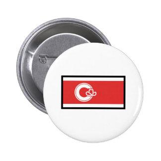 FLAG OF CALGARY ALBERTA 2 INCH ROUND BUTTON