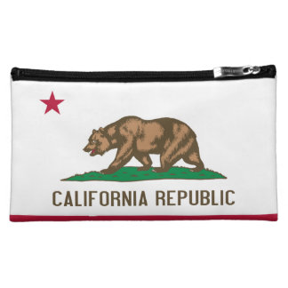 Flag of California Makeup Bags