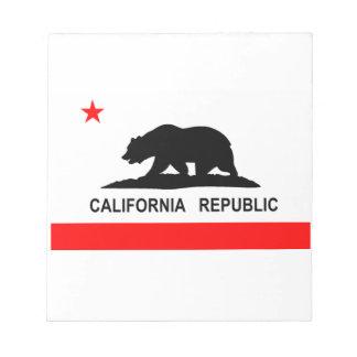 Flag of California Notepad
