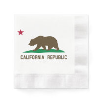 Flag of California Paper Napkin